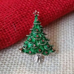 Christmas Tree Holiday Brooch Sweater Pin