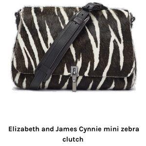 NWT - Elizabeth and James crossbody bag zebra