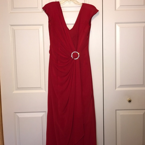 Saks Fifth Avenue Dresses Red Gown By Gianni Dalberto For Poshmark