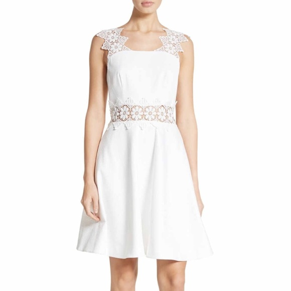 a9072641f1 Ted Baker London Dresses | Ted Baker Monas Lace Trim Aline White ...