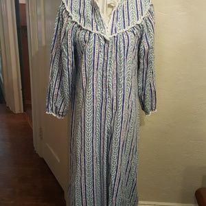 Vintage Lanz of Salzberg flannel nightgown M- L
