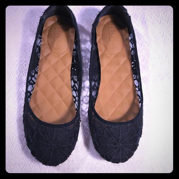 Mudd Navy Blue Lace Ballet Flats