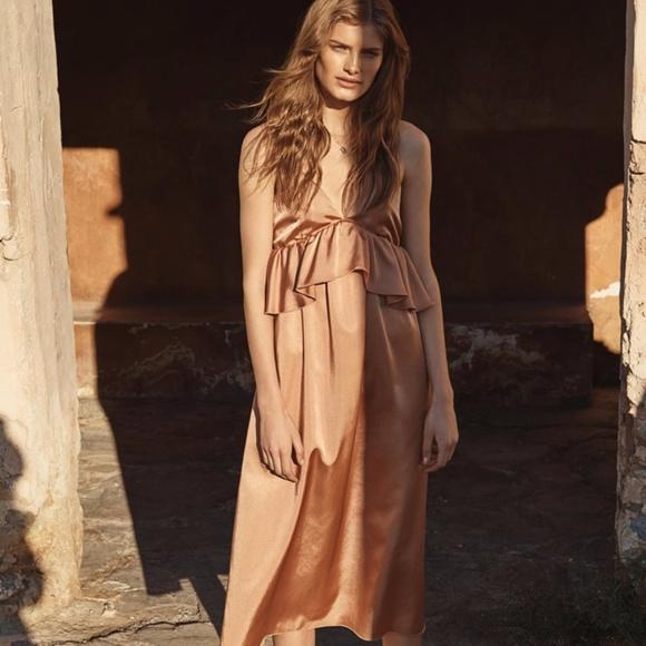 V Neck Satin Dresses