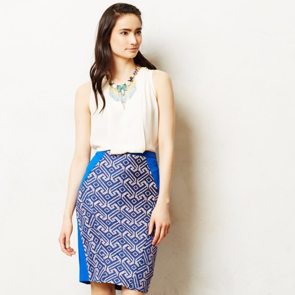 43d983fd625ac Anthropologie Skirts | Saidia Pencil Skirt By Eva Franco | Poshmark