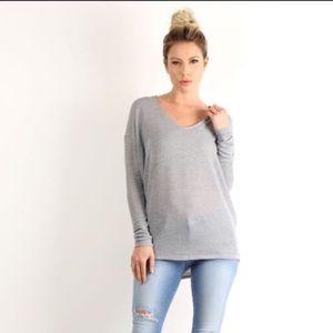 🆕Cute heather gray knit dolman ❤️