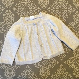 Old Navy baby girl gray cardigan sweater