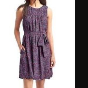 Gap paisley belted dress NWT