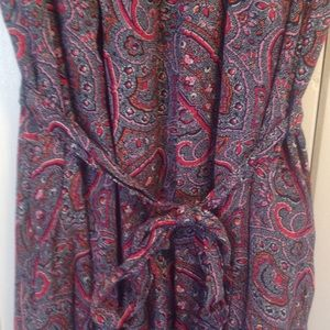 GAP Dresses - Gap paisley belted dress NWT