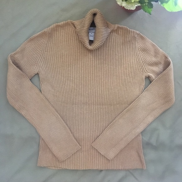 56% off Old Navy Sweaters - Brown 100% cotton turtleneck sweater ...