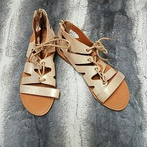Other - Girls Gladiator Sandals size 2 NWOT