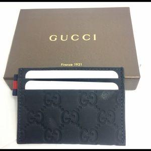 e5f70dae6cfb Gucci Bags | Dark Blue Gg Rubberleather Card Case322190 | Poshmark