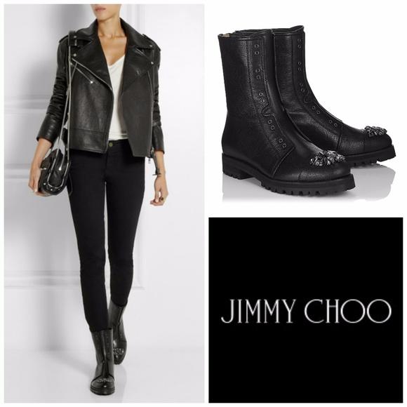 e21c567e9d4 NIB New Jimmy Choo Hatcher Boots Sz 40.5 Crystal