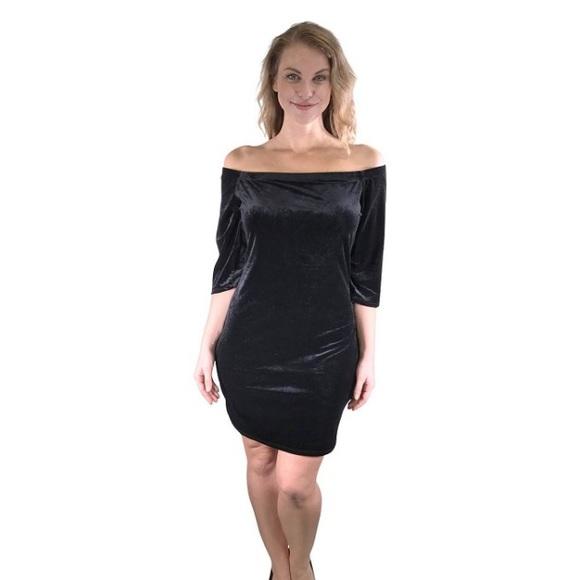 Dresses | Plus Size Off Shoulder Velvet Dress | Poshmark