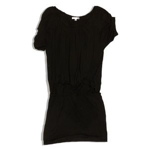 Vince Short Sleeve Dress Black Jersey Mini Blouson