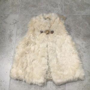 Zara girl outerwear faux fur vest coat