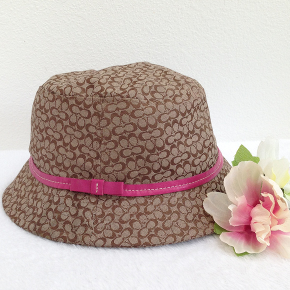 b391cb730a4 Coach Other - COACH Kids Girls Brown Sign Bucket Hat