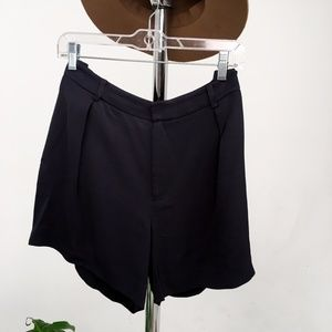 Club Monaco Navy High Waisted Shorts