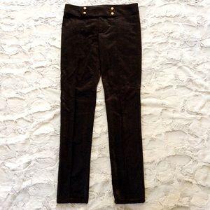 Nanette Lepore black velveteen piped tuxedo pants