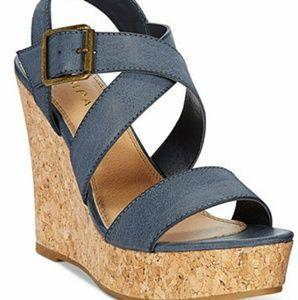 Rampage Platform Wedge Sandals