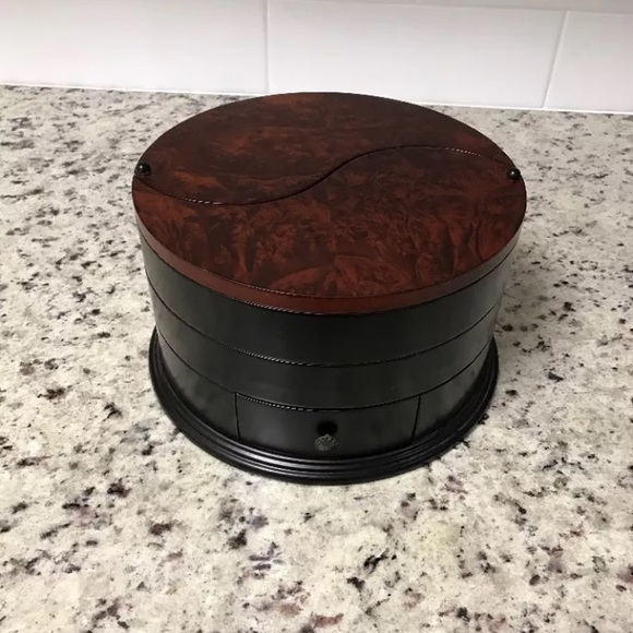 Astonishing Bombay Round Style Serenity Wood Jewelry Box Gmtry Best Dining Table And Chair Ideas Images Gmtryco