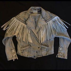 Vintage 80's 90's Sergio Valente acid wash jacket