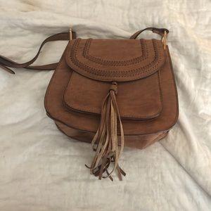 Franco Sarto Brown Crossbody Saddle Bag