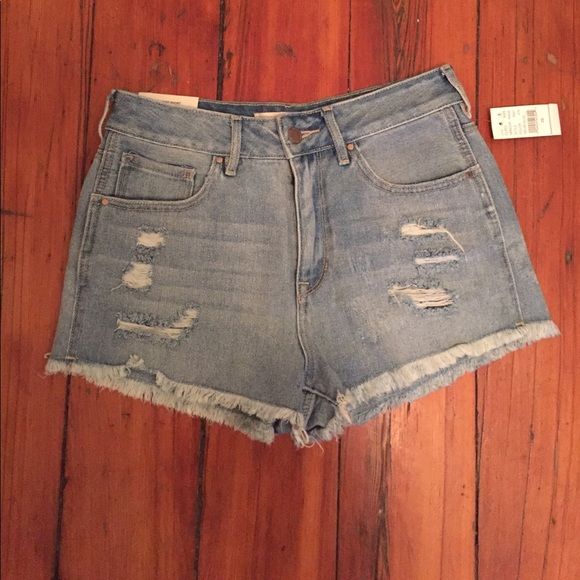 Able Womens Bullhead High Rise Short Denim Jean Shorts Size 7 Mixed Intimate Items