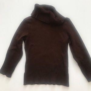 XOXO brownknit cowel neck sweater S