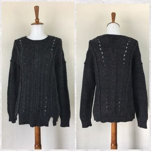 Cynthia Rowley Gray Crew Neck Sweater