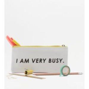 ban.do I Am Very Busy pencil case