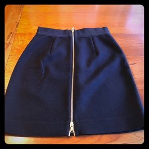 Milly skirt with gold zip up back! Great for work!