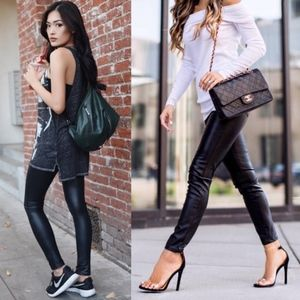 DEBORAH slick leggings - BLACK