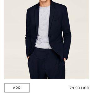 Zara Navy Basic Blazer