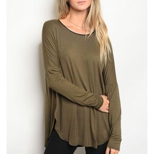 | FAUX LEATHER TRIM TOP |