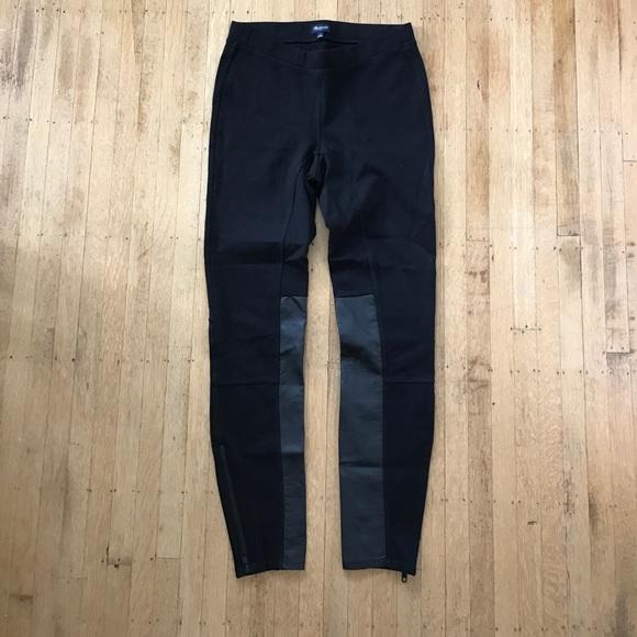 Madewell Pants - Madewell faux leather ponte panel pants leggings