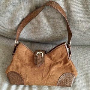 ❗️Croft & Barrow Suede Brown Bag MSRP $198!
