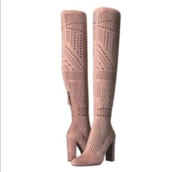 ea190a90fc0 Steve Madden Suede Laser Cut Over The Knee Boots