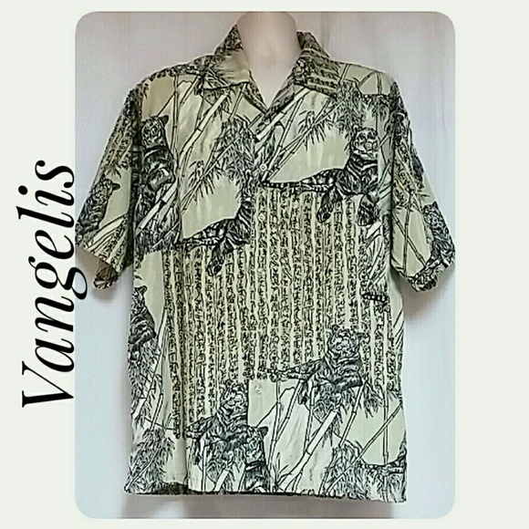 Vangelis Other - Men's Vangelis Casual Shirt Tigers Bamboo XL