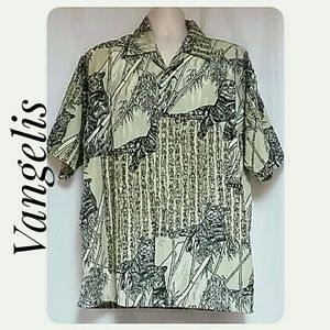 Men's Vangelis Casual Shirt Tigers Bamboo XL