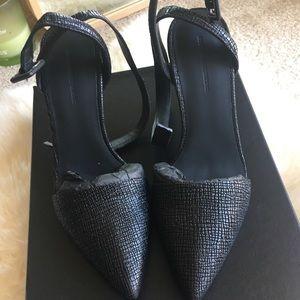 Alexander wang Louisa embossed leather anklestrap