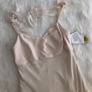 NWT [xscape] cream 90s vintage gown