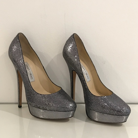Jimmy Choo scarpe  Heels  Eros Anthracite Glitter Platform Heels    Poshmark 933987