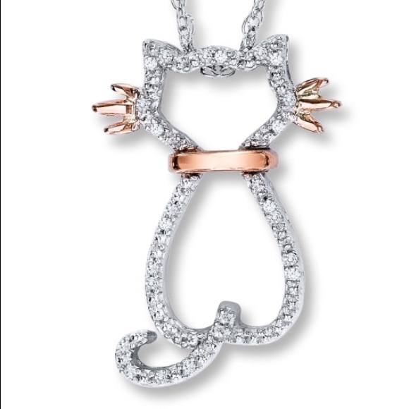 874af1e8d Kay Jewelers Jewelry | Diamond Cat Necklace | Poshmark