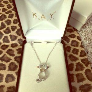 3b6624502 Kay Jewelers Jewelry | Diamond Cat Necklace | Poshmark