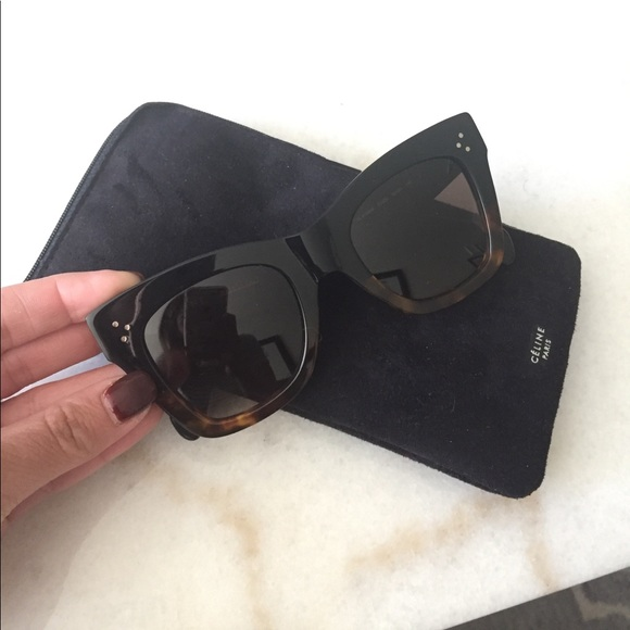 7a21a1394a6 Auth Celine Catherine Cat Eye Sunglasses 41090 S