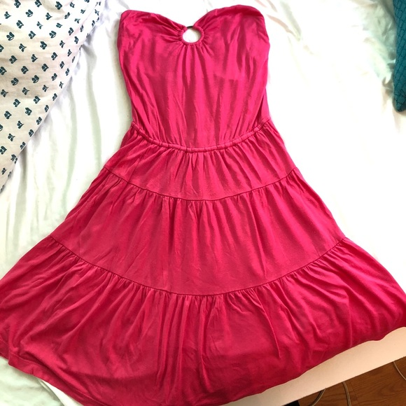 Juicy Couture Dresses | Strapless Pink Dress | Poshmark