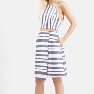 TOPSHOP WHITE AND BLUE SKIRT