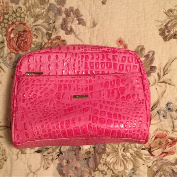 3770f9f356 BaByliss PRO Handbags - BaBylissPRO pink faux croc zip toiletry makeup bag