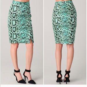 Nanette lepore  squeeze me reptile pencil skirt