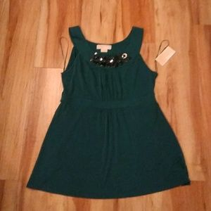 Michael MK Holiday Teal Tank top